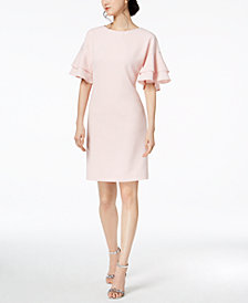 Jessica Howard Tiered-Sleeve Shift Dress