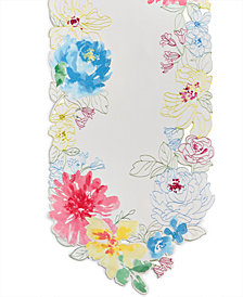 Homewear Beauchamp Floral Cutwork 72'' Runner