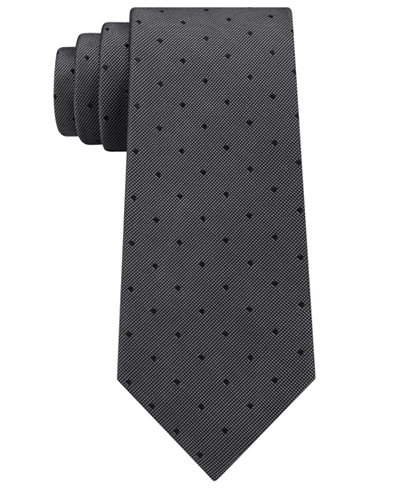 Calvin Klein Men's Mirror Dot Silk Tie