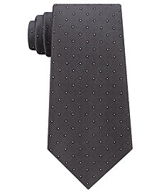 Calvin Klein Men's Pique Dot Silk Tie