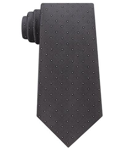 Calvin Klein Men's Pique Dot Silk Tie
