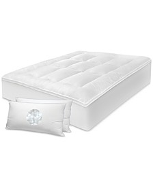 "3"" Any Position Mattress Topper & Pillow Sets"
