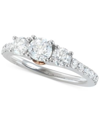 Marchesa Diamond TwoTone Engagement Ring 112 ct tw in 18k