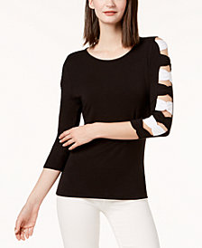 I.N.C. Bow-Sleeve Top, Created for Macy's