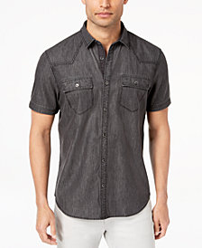 I.N.C. Men's Gray Denim Shirt, Created for Macy's