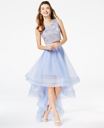 Say Yes to the Prom Juniors' High-Low Popover Gown, Created for Macy's