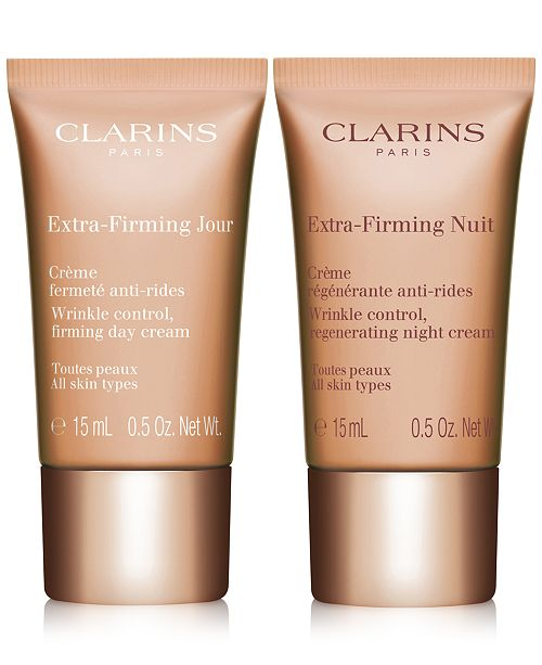 Clarins Receive FREE Travel-Sizes of NEW! Extra-Firming Day & Night Creams with $75 Clarins Purchase!