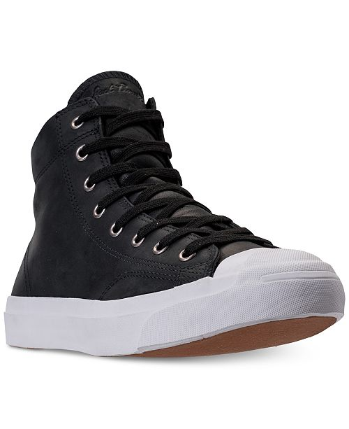 5bcdf66de502e0 ... Converse Men s Jack Purcell High Top Casual Sneakers from Finish ...