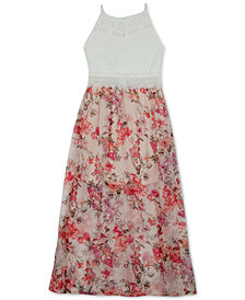 BCX Floral-Print Maxi Dress, Big Girls