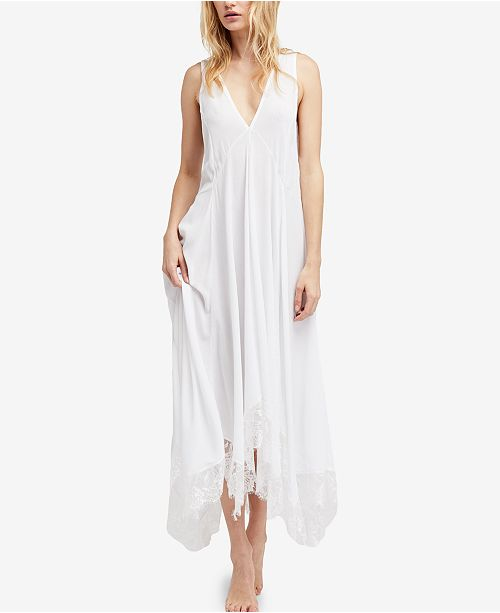 7cef75118aba Free People Girl Like You Plunging Lace-Trim Slip Dress & Reviews ...