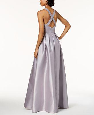 Adrianna Papell Beaded Mikado Satin Gown Dresses Women Macy S