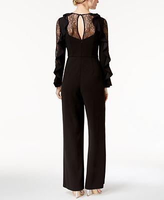 Adrianna Papell Lace Ruffle Jumpsuit Pants Women Macys