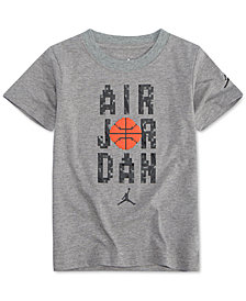 Jordan Air-Print Cotton T-Shirt, Little Boys
