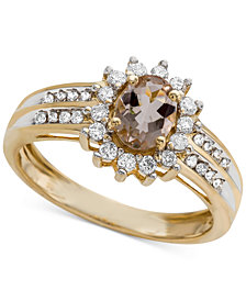 Morganite (3/4 ct. t.w.) & Diamond (1/3 ct. t.w.) Ring in 14k Gold