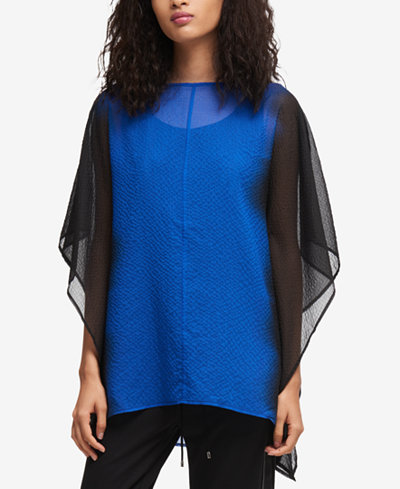 DKNY Chiffon Poncho Top, Created for Macy's