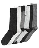 1b795fc1e8 Perry Ellis Men s 6-Pk. Pin-Dot Performance Dress Socks