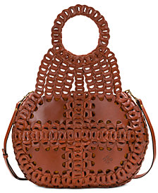 Patricia Nash Pisticci Chainlink Leather Shoulder Bag