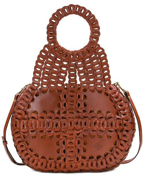 Patricia Nash Pisticci Chainlink Leather Shoulder Bag - Handbags ... ad313a44ef
