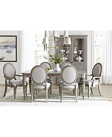 Elina Expandable Dining 7-Pc. Set (Dining Table, 4 Upholstered Side Chairs & 2 Upholstered Arm Chairs), Created for Macy's