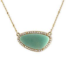 RACHEL Rachel Roy Gold-Tone Blue Stone Pendant