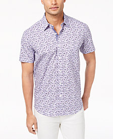 Con.Struct Men's Watercolor Stretch Floral Shirt, Created for Macy's