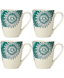 Lenox Market Place Mugs, Set of 4