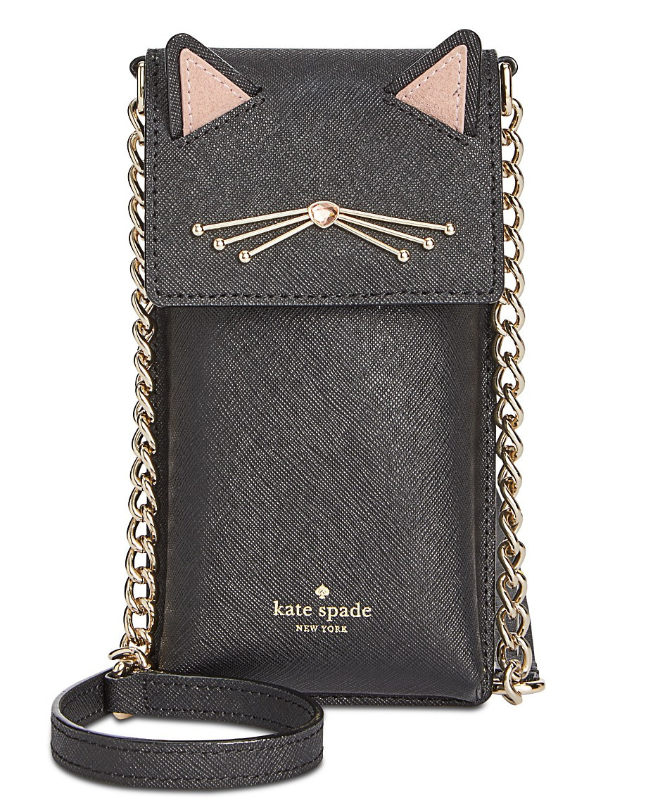 1a66359357fb kate spade new york Cat North South Phone Crossbody & Reviews - Handbags &  Accessories - Macy's