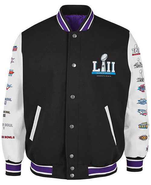 d73d6445c G-III Sports Men s Super Bowl 52 Game Ball Varsity Jacket - Sports ...