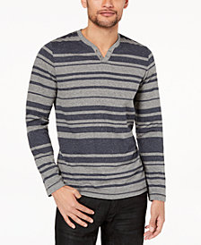 I.N.C. Men's Striped Long-Sleeve T-Shirt, Created for Macy's