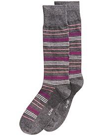 Men's Variegated Stripe Dress Socks, Created for Macy's