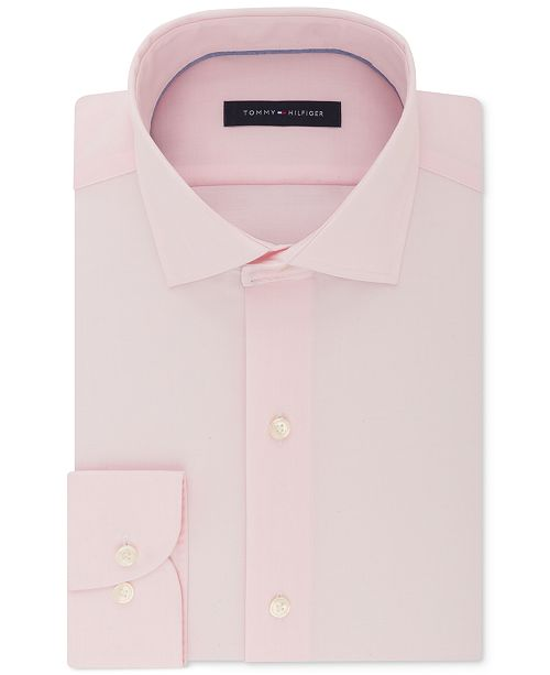 2087aeb72 ... Tommy Hilfiger Men's Classic/Regular Fit Non-Iron Performance Stretch  Solid Dress Shirt ...