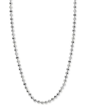 "20"" Beaded Chain Necklace in Sterling Silver, Created for Macy's"