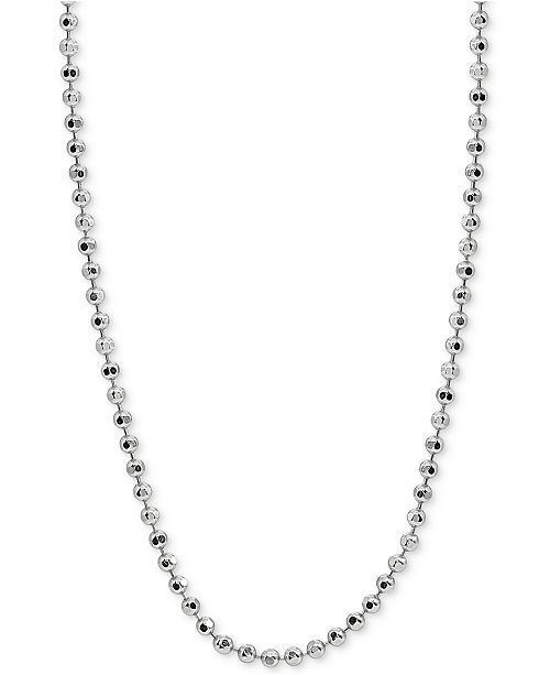 """Giani Bernini 20"""" Beaded Chain Necklace in Sterling Silver, Created for Macy's"""