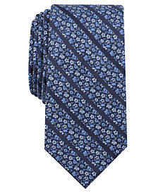Bar III Men's Beddington Floral Skinny Tie, Created for Macy's