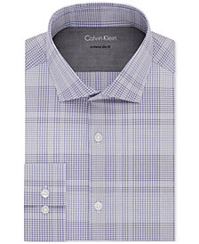 Calvin Klein X Men's Extra-Slim Fit Thermal Stretch Performance Check Dress Shirt