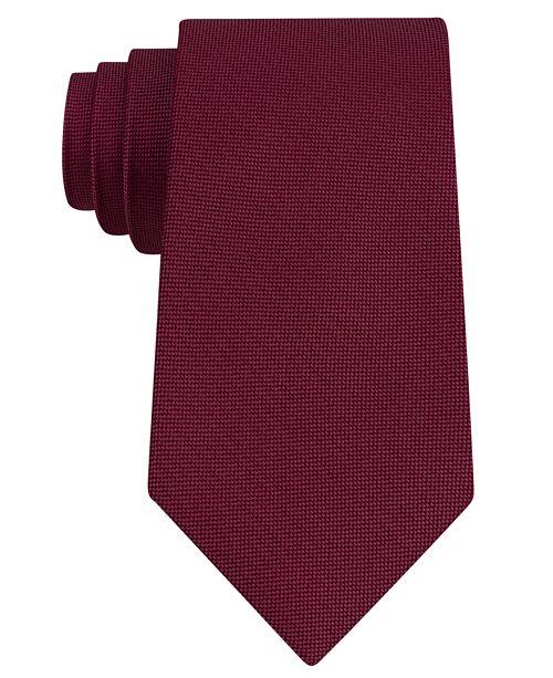 Men's Pebble Solid Silk Tie, Created for Macy's