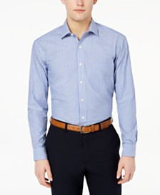Club Room Men's Classic/Regular Fit Stripe Dress Shirt, Created for Macy's