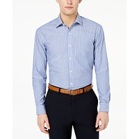 Club Room Men's Classic/Regular Fit Stripe Dress Shirt