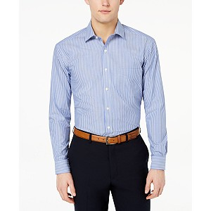 Deals on Club Room Mens Classic/Regular-Fit Stripe Dress Shirt