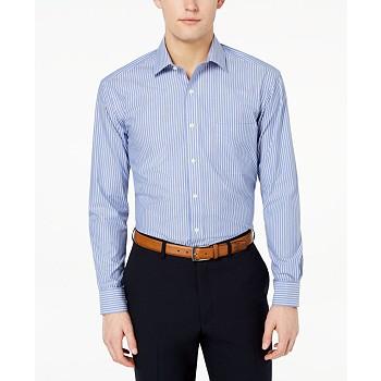 Club Room Men's Classic/Regular Fit Stripe Dress Shirt