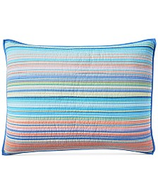 CLOSEOUT! Martha Stewart Collection Tropical Yarn Dye 100% Cotton King Sham, Created for Macy's