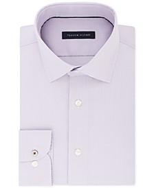 Men's Slim-Fit Non-Iron Performance Stretch Check Dress Shirt