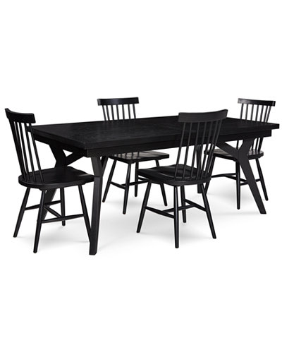 Bensen Dining Furniture, 5-Pc. Set (Expandable Dining Table & 4 Side Chairs), Created for Macy's