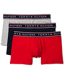 타미 힐피거 속옷 하의 (3pk) Tommy Hilfiger Mens 3-Pk. Cotton Stretch Trunks
