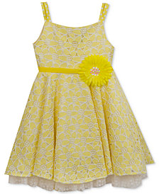 Rare Editions Floral Lace Dress, Big Girls