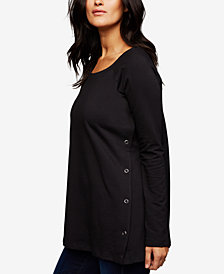 A Pea In The Pod Buttoned Nursing Top
