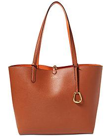 Lauren Ralph Lauren Merrimack Reversible Leather Tote