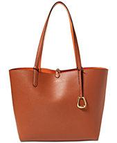 Lauren Ralph Lauren Merrimack Reversible Faux Leather Tote 5d61b75b41