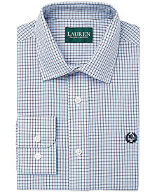 Lauren Ralph Lauren Tattersall Dress Shirt, Big Boys