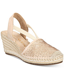 Anne Klein Abbey Espadrille Platform Wedge Sandals